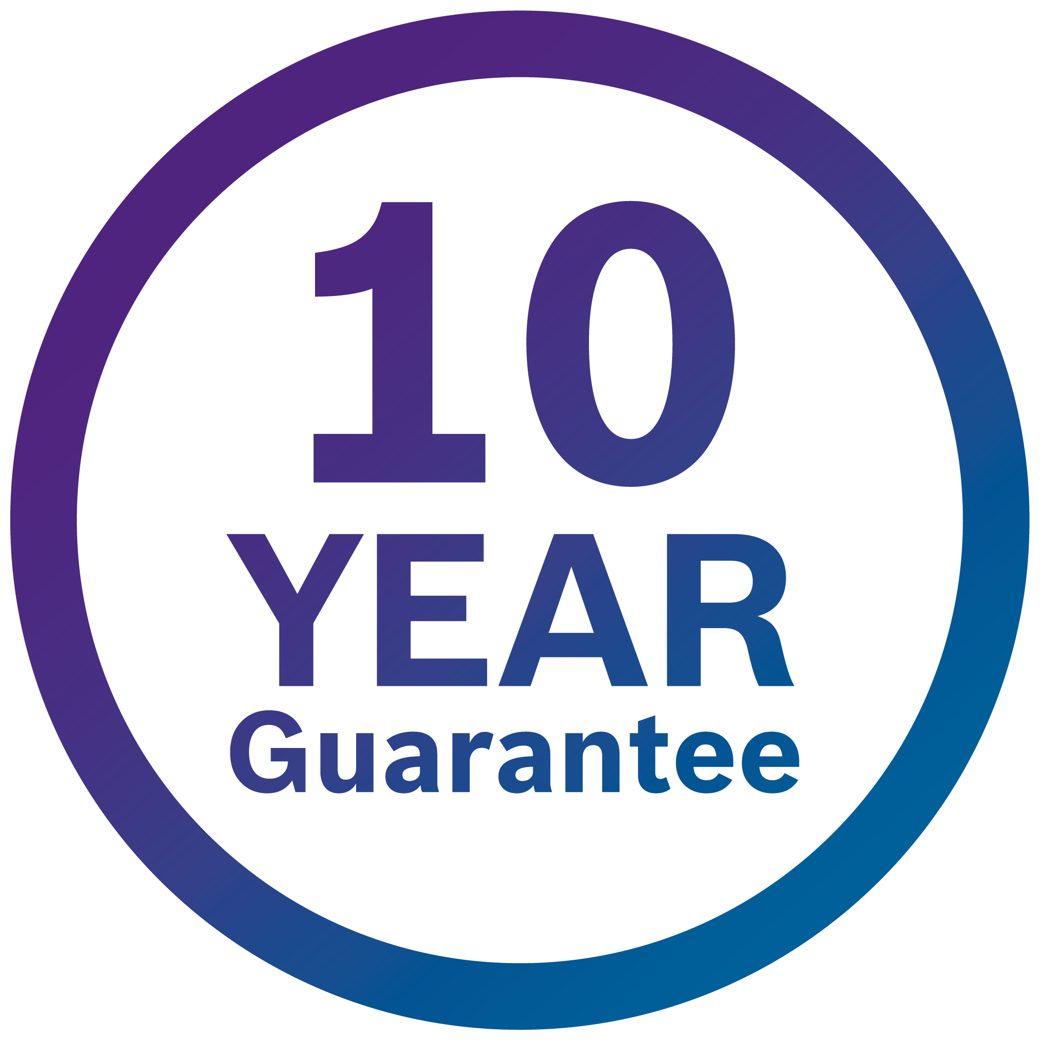exclusive 10 year guarantee